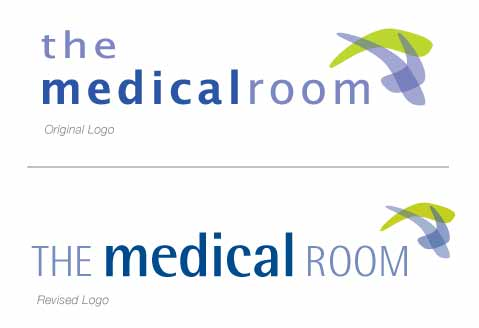 The Medical Room - Old and New Logos