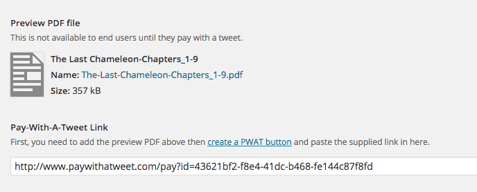 Pay-with-a-tweet social media interaction