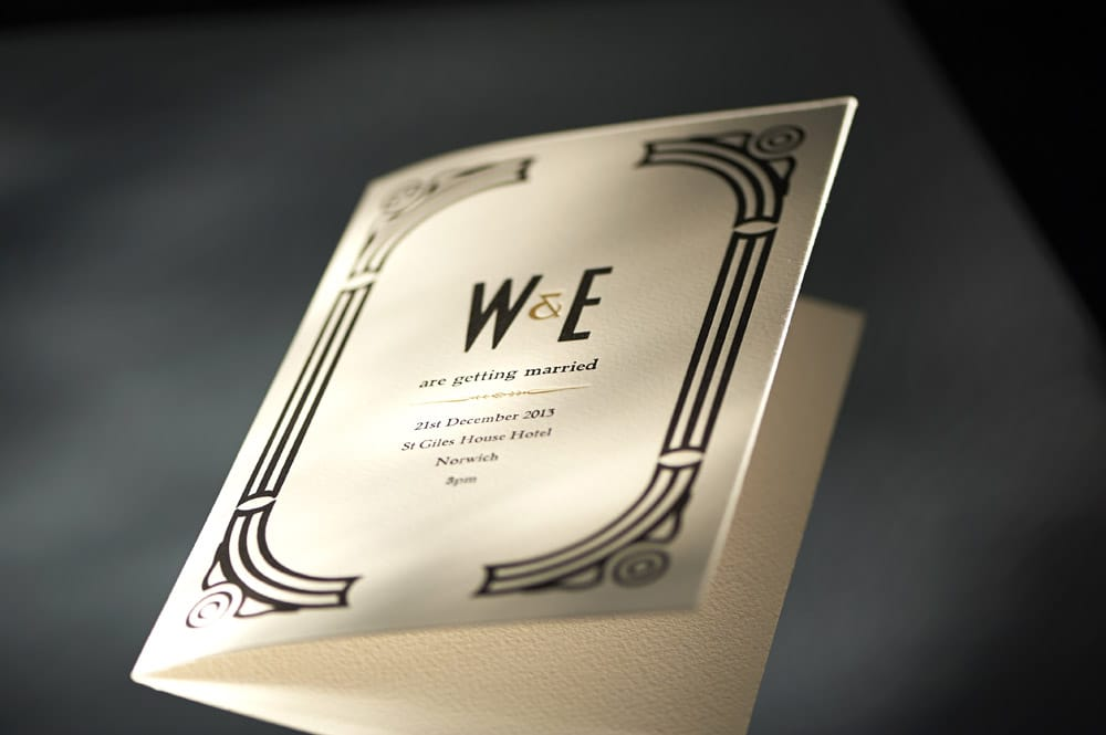 Wedding invitation for W&E