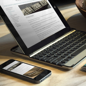 Cupiss Letterpress website on 2 devices, desktop and mobile