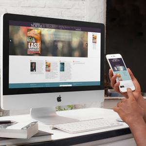 James North Thrillers - website on desktop and mobile