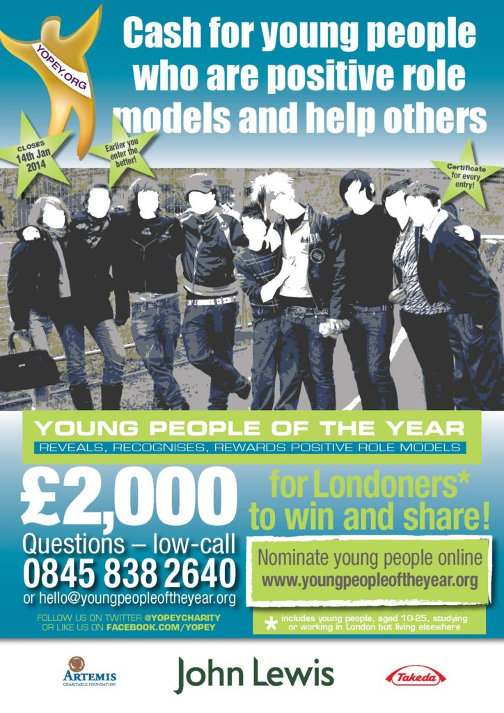 Poster for the London Young People of the Year 2013