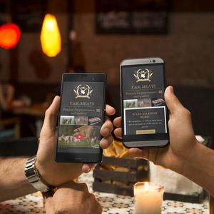 C&K Meats mobile website on iPhones