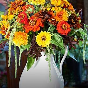 Flowers from Gabriel's Garden in a vase