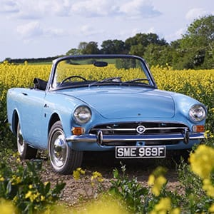 1967 Sunbeam Alpine in Mediterranean Blue