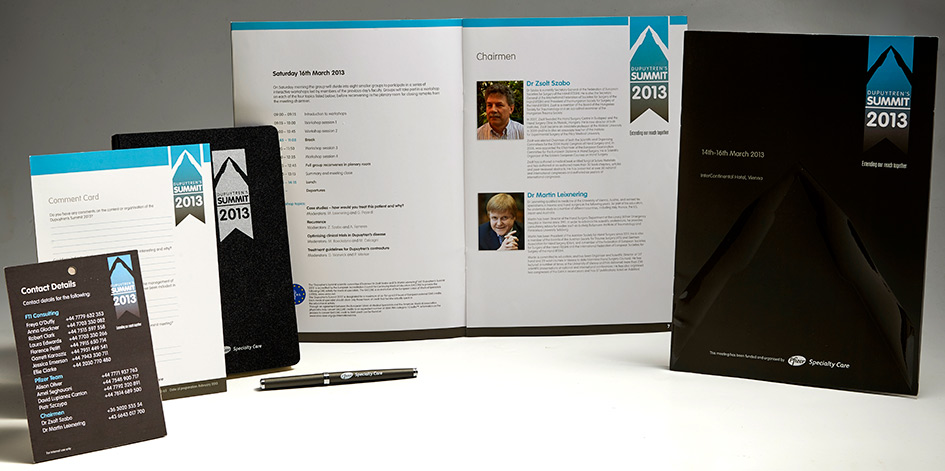 Events Materials for a Summit conference