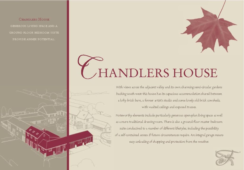 Front side of an insert for Chandlers House, Ferrers Hill