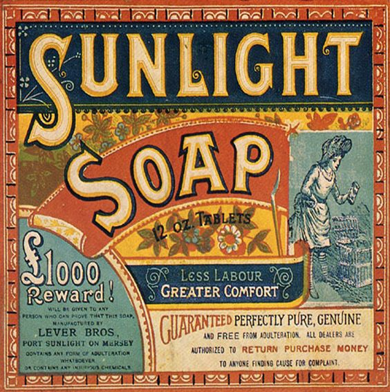 Sunlight Soap logo design and branding