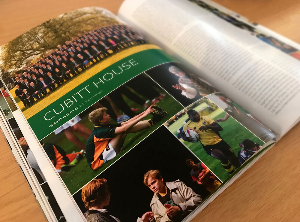 One of the many Cranleighan publications Scream Blue Murder has produced for Cranleigh School